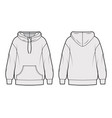 oversized cotton-fleece hoodie technical fashion vector image vector image