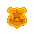 police officer button vector image vector image