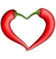 Red chili pepper heart EPS 10 vector image vector image