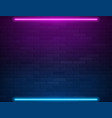retro abstract blue and purple neon lights on vector image