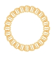 round frame on a white background - gold chain vector image vector image