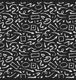 seamless pattern different hand drawn grunge vector image
