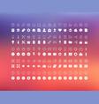 set flat line icons minimalistic vector image