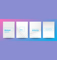 set minimal abstract diagonal line on white vector image vector image