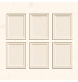 Set of brown frames vector image vector image