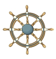 ship steering whee vector image vector image