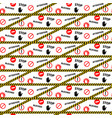 stop blocked attention danger seamless pattern vector image vector image