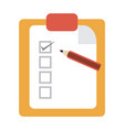 tasks on clipboard vector image vector image