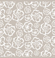 tender grey sketch simple flower pattern vector image