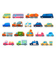 toy colorful different service cars set vector image
