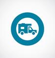 trailer icon bold blue circle border vector image vector image