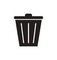 Trash bin vector image vector image