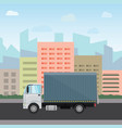 truck delivery isolated vector image