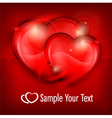 two heart red vector image vector image