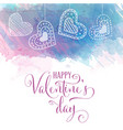 watercolor valentines day card vector image vector image