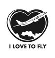 I love to fly vector image