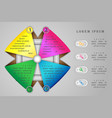 infographics concept four options vector image
