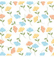 spring flowers background image vector image