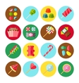 Sweet Candy Flat Isolated Icon Set vector image