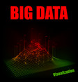 abstract 3d big data visualization vector image vector image