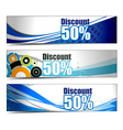 Abstract discount banners vector image