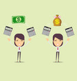 accountant at work savings finances and economy vector image vector image