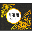 African Golden pattern on black background vector image vector image