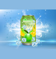 apple tonic aluminum can realistic mockup vector image