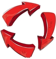 Arrows recycle sign vector image vector image