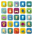 Award color icons with long shadow vector image vector image