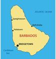 Barbados - map vector image vector image