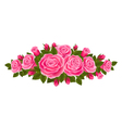 Beautiful border of roses vector image vector image