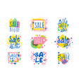 big sale set for label design sale shopping vector image vector image