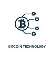 bitcoin technology icon creative element design vector image vector image