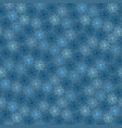 blue winter and festive christmas star snowflakes vector image