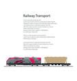 brochure locomotive with hopper car vector image vector image