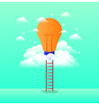 bulb light in the sky with stairs vector image