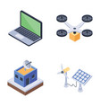 bundle of smart city icons vector image vector image