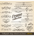 Calligraphic design elements and frames vector | Price: 1 Credit (USD $1)