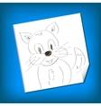 Cat Sketch doodle vector image