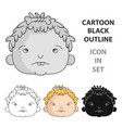 cavechild face icon in cartoon style isolated on vector image vector image