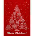 christmas greeting card with fir tree vector image vector image