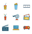 cinema entrance icons set cartoon style vector image vector image
