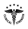 clinical strength tested approved badge