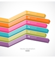 Colorful 3d lines vector image