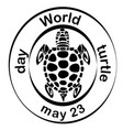 concept on the world turtles day may 23 vector image vector image