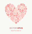 Decorative graphic heart with place for your text vector image