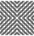 Design seamless monochrome spiral movement pattern vector image vector image