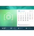 Desk Calendar Template for 2017 Year November vector image vector image