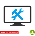 Desktop Settings Eps Icon vector image vector image
